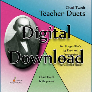 MP3 Album:  Teacher Duets for Burgmuller's Op. 100 for a second piano (Chad Twedt)