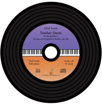 CD:  Teacher Duets for Burgmuller's Op. 100 for a second piano (Chad Twedt)